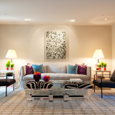 Contemporary Living Room by Janet Paik