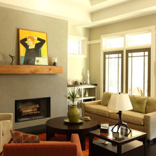 Modern Living Room by JR McDowell Homes
