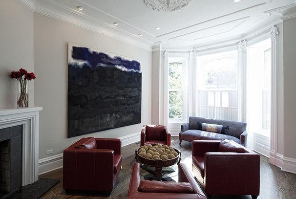 Eclectic Living Room by Buckingham Interiors + Design LLC