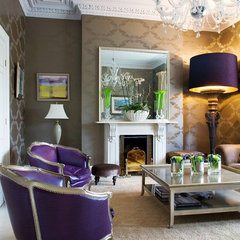 eclectic living room by Julianne Kelly