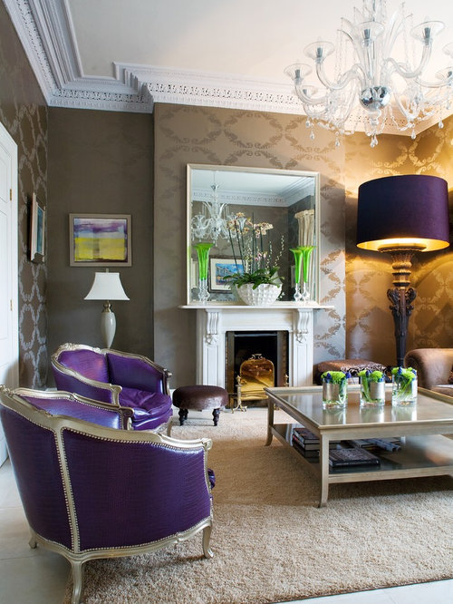 Purple Living Room Decor Houzz
