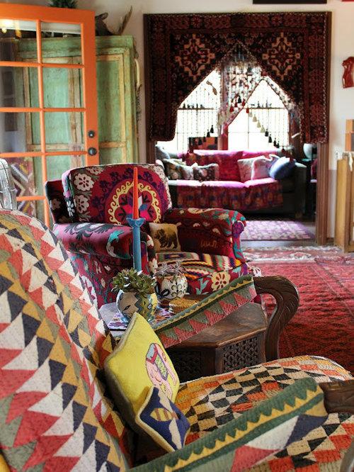 Hippie Living Room Design Ideas Renovations S