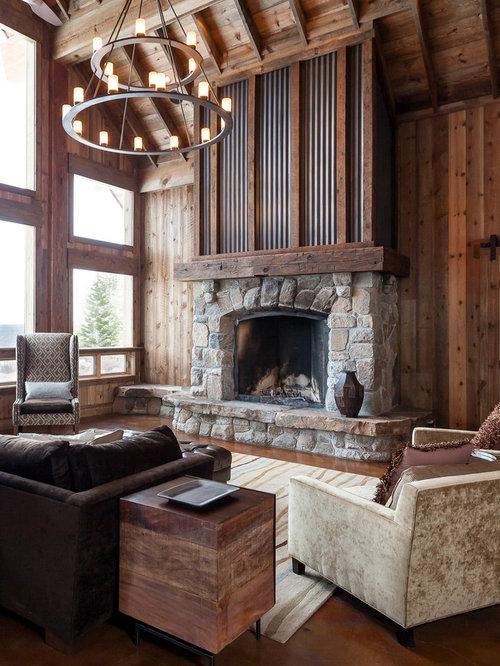 Corrugated Metal Fireplace Houzz