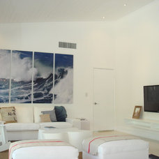 Beach Style Living Room by Island Time Renovation & Design