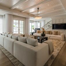 Beach Style Living Room by Angela Reynolds Designs