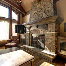 Traditional Living Room by K2 Stone Quarries