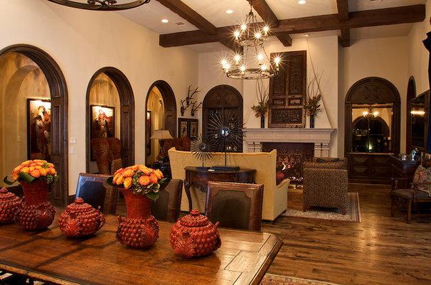 Mediterranean Family Room by Heritage Design Studio