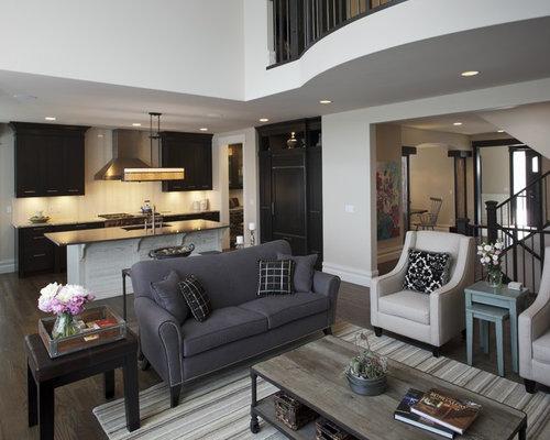 dark grey sofa living room design ideas remodels photos houzz