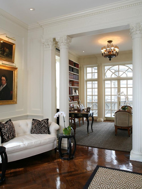 Traditional Living Room Idea In DC Metro With A Library