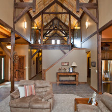 Traditional Living Room by Sand Creek Post & Beam