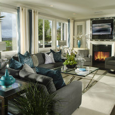 Contemporary Living Room by Possibilities for Design Inc.