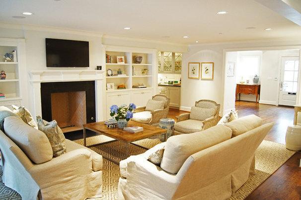 Traditional Living Room by Kara Weik