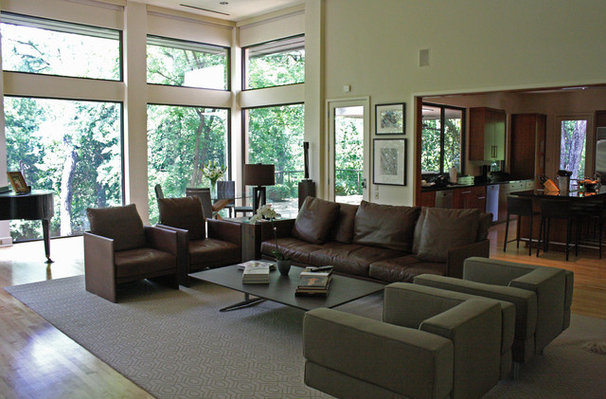 Contemporary Living Room by Kara Weik