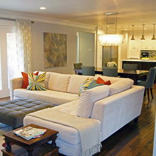 Transitional Living Room by Kara Weik