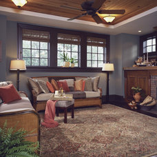 Traditional Living Room by Pace-Stone