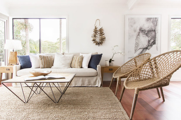 Beach Style Living Room by Advantage Interior Design