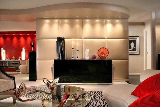 Contemporary Living Room by KARLA TRINCANELLO-CID - INTERIOR DECISIONS, INC.