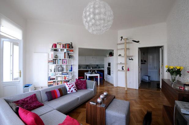 Minimalistisch Wohnbereich by bcSTUDIO