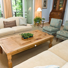 Traditional Living Room by kat robbins Interiors
