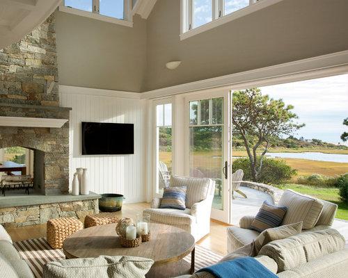maritime wohnzimmer mit tunnelkamin ideen design. Black Bedroom Furniture Sets. Home Design Ideas