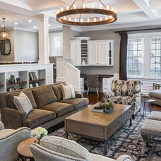 Transitional Living Room by Marcel Page Photography