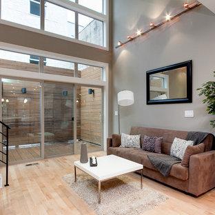Trendy living room photo in Philadelphia