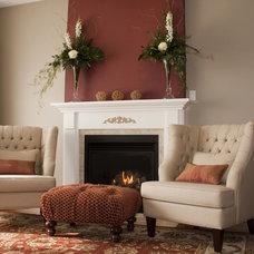 Contemporary Living Room by Katherine Joy Interiors