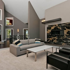 Modern Living Room by Kathie Karsnia Interiors