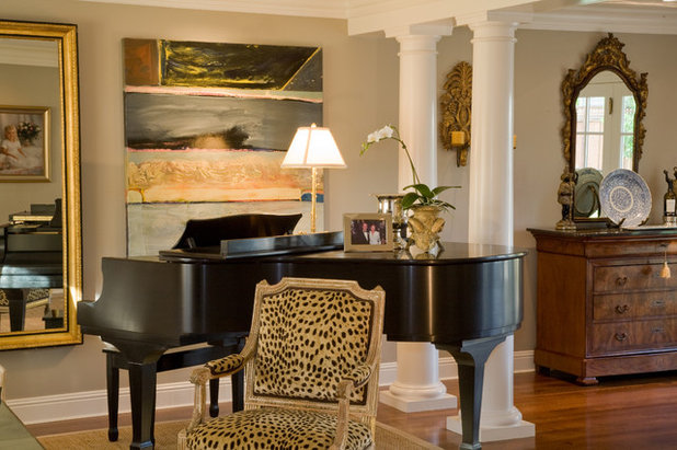 Traditional Living Room by Kathleen Burke Design