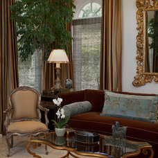 Traditional Living Room by Kathy Bloodworth Interior Design