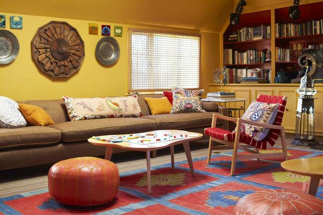 Contemporary Living Room by Vendome Press