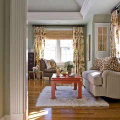 traditional living room by Michael J. Lee Photography