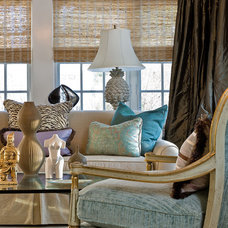 Transitional Living Room by Michael J. Lee Photography