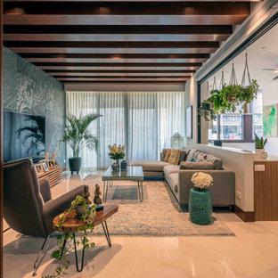 houzz tropical living room decorating ideas