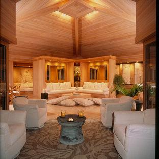 Tropical living room in Atlanta.
