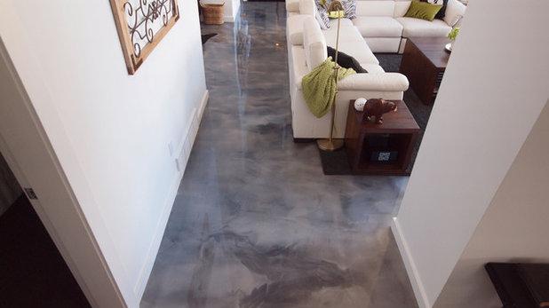 Contemporary Living Room by Elite Crete Systems Canada
