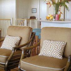 Tropical Living Room by Design Savvy Maui, ASID