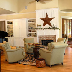 traditional family room by Cole Design Studio, LLC