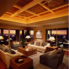 Tropical Living Room by Dinmore & Cisco Architects, Inc.