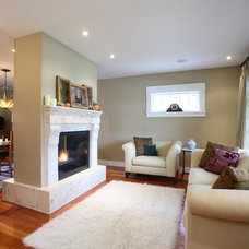 Traditional Living Room by Synthesis Design Inc.