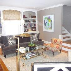 Modern Living Room by kelley gardner