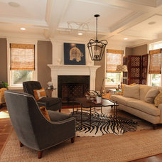 Modern Living Room by kelley gardner
