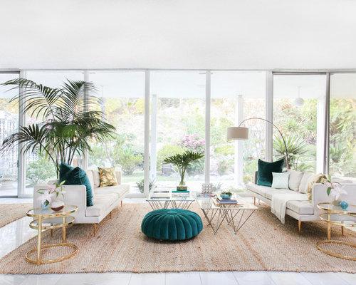 Attractive Coastal Living Room Photo In New York