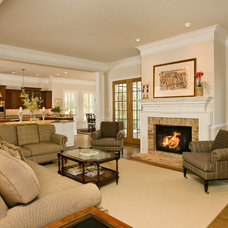 Traditional Living Room by Rinehart Custom Homes