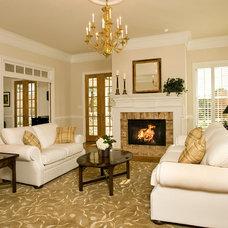 Traditional Living Room by Rinehart Custom Homes