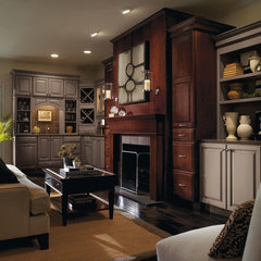 traditional living room by MasterBrand Cabinets, Inc.