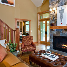 Traditional Living Room by Phinney Design Group