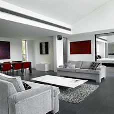 Contemporary Living Room by red interiors pty ltd