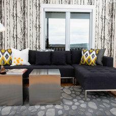 Contemporary Living Room by judith mackin