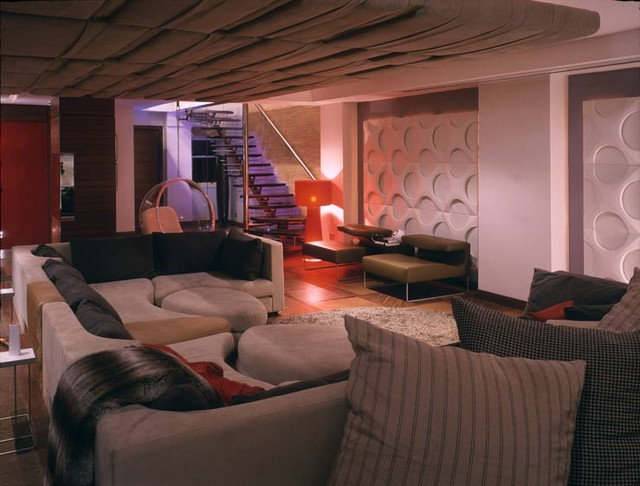 Eclectic Living Room by David Churchill - Architectural  Photographer